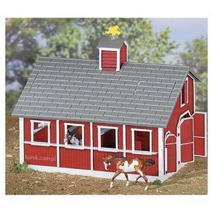 Zestaw czerwona stajnia + 2 konie - BREYER - 2847725863