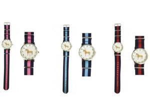 Zegarek na rękę z parcianym paskiem - GRAY'S - 2847727229