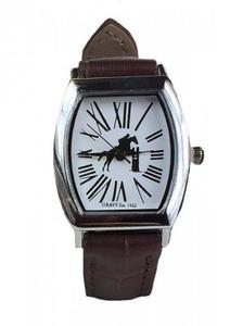 Zegarek na rękę ze skórzanym paskiem koń w skoku - GRAY'S - 2847727236