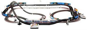 Duży Podwójny Tor Wyścigowy. 2w1: Wyścigówka & Elektr. Kolejka Pendolino + Piloty i Różne Akcesoria. - 2843304985