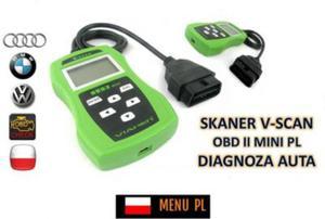 Skaner/Interfejs Diagnostyczny Obsługujący Kilkaset Modeli Pojazdów + Menu PL itd. - 2837618882
