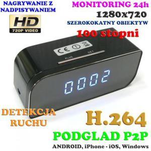 Szpiegowska Kamera HD WiFi/P2P Dzienno-Nocna (Ca - 2856719472