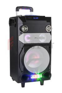Przenośny aktywny zestaw DJ marki Quer z światełkami RGB, funkcją nagrywania oraz karaoke - 2873112368