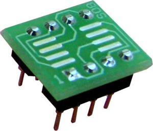 Adapter SO8-->DIL8 dla pamięci szeregowych Flash, EEPROM i uP (SO8/SOIC8)