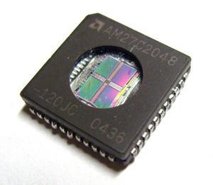 Pamięć EPROM 27C2048 PLCC 44 (UV) AMD (zam. 27C202/220), 120ns - 2828172839