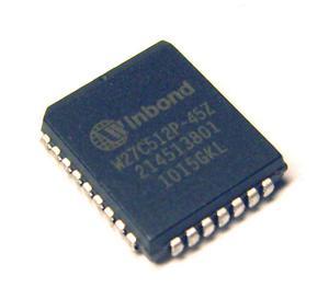 Pamięć EPROM kasowalna elektrycznie W27C512 PLCC32 45ns (zam. 27C512) - 2828172871