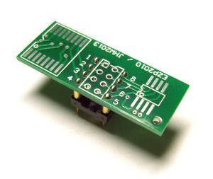 Adapter SO8/SO16 -->DIL8 dla pamięci szeregowych Flash, EEPROM i uP (SO8/16 SOIC8/16)