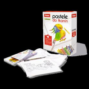 Pastele do TKANIN Pentel + koszulka i długopis żelowy ZESTAW - 2828931492