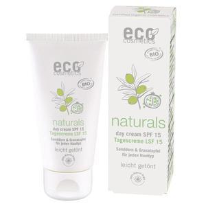 eco cosmetics Day+ Tonowany krem do twarzy LSF/SPF 15 z owocem granatu i rokitnikiem 3w1 - 2829152534