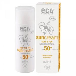 Eco Cosmetics SURF & FUN Tonowany krem na słońce LSF/SPF 50+ z owocem granatu i olejem z makadamii - 2867143753
