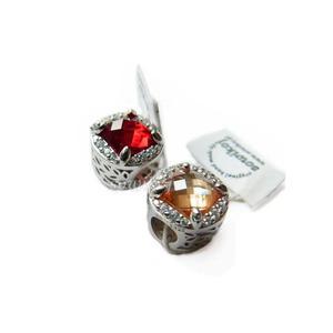 Charms zawieszka srebrna do bransoletki diadem cyrkonia kolory - 2860195943