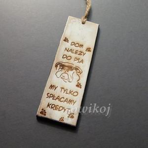 Tabliczka mini Pies i kredyt - 2823865945