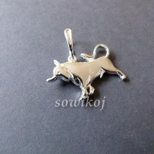 Zodiak BYK duży srebrny - 2846799062