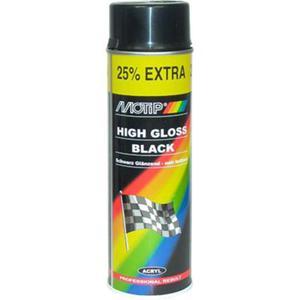 Motip lakier akrylowy czarny połysk spray 500ml. - 2859964652
