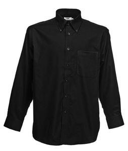 Koszula męska L/S Oxford Shirt Czarna M - 2827616312