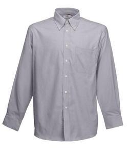 Koszula męska L/S Oxford Shirt Szara M - 2827616316