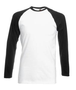 Koszulka L/S Baseball Biała/Czarna L - 2827616395