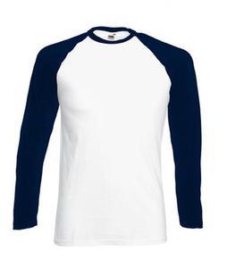Koszulka L/S Baseball Biała/C.Granat L - 2827616401