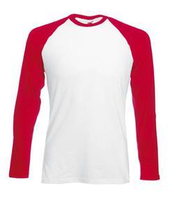 Koszulka L/S Baseball Biała/Czerwona L - 2827616404