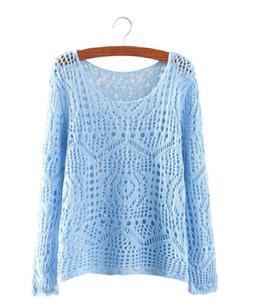 Ażurowy sweterek P104