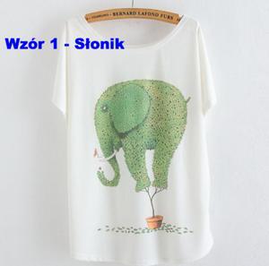 Damski T-shirt rożne wzory P105