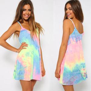 Pastelowa letnia sukienka Summer Party Dress P61