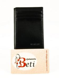 c70841348ea8a Czarne etui wykonane z naturalnej skóry bukatowej BARTEX - 2829289674