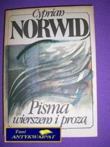 PISMA WIERSZEM I PROZĄ-C.Norwid - 2822522210