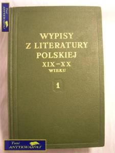 WYPISY Z LITERATURY POLSKIEJ XIX-XX WIEKU 1 - 2822522697