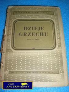 DZIEJE GRZECHU- S.Żeromski