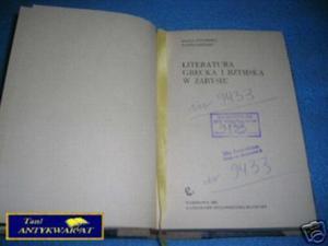 LITERATURA GRECKA I RZYMSKA W ZARYSIE - M.Cytowska - 2822531100