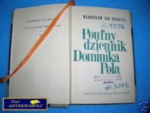 POUFNY DZIENNIK DOMINIKA POLA - W.J.Grabski - 2822534578