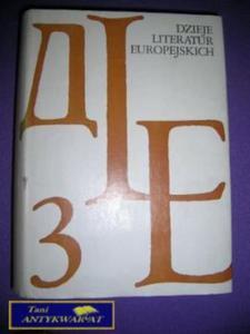 DZIEJE LITERATUR EUROPEJSKICH 3 - 2822534719