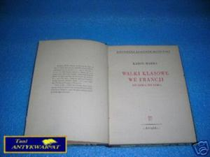 WALKI KLASOWE WE FRANCJI OD 1848-1850 - K.Marks - 2822536095