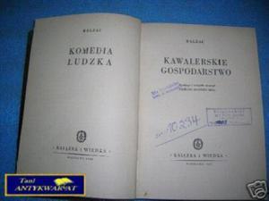 KAWALERSKIE GOSPODARSTWO - Balzac - 2822536261