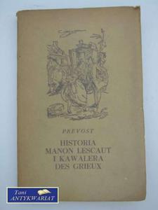 HISTORIA MANON LESCAUT I KAWALERA DES GRIEUX - 2822553331