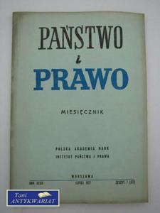 PAŃSTWO I PRAWO-LIPIEC '77 - 2822560641