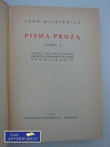 PISMA PROZĄ - część I - 2822562137