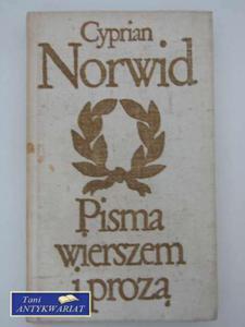PISMA WIERSZEM I PROZĄ - 2822562741