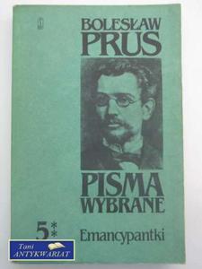 PISMA WYBRANE 5 EMANCYPANTKI TOM III i IV - 2822564498