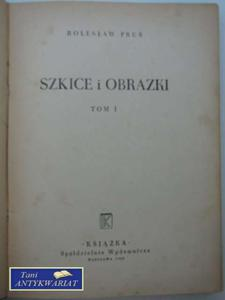 SZKICE I OBRAZKI TOM 1 - 2822565196