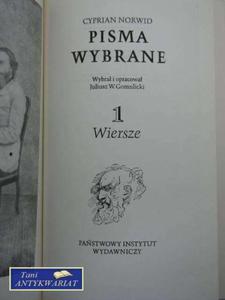 PISMA WYBRANE 1 WIERSZE - 2822567157