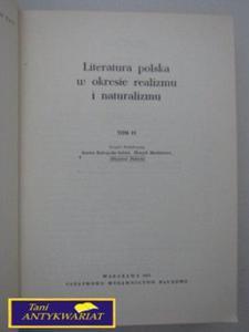 LITERATURA POLSKA W OKRESIE REALIZMU I NATURALIZMU - 2822519436