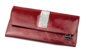 3e13e95a5bc34 cv-260 skórzany portfel z kamieniami swarovski SWAROVSKI. PORTFELE DAMSKIE