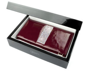 Swarovski kolekcja Giovani skórzany portfel damski CV-240 - 2826064390