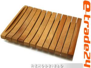 Stylowa Mydelniczka Drewno TEAK Rękodzieło - 2862771207