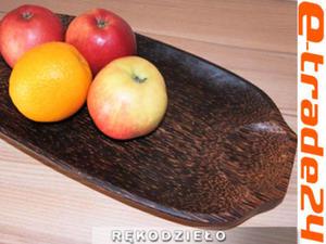 Taca Tacka Patera Drewno Kokosowe Rękodzieło 37x20