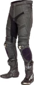 Spodnie skórzane Lookwell Mach II czarno grafitowe - 2848051877