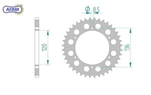 Zębatka AFAM tylna aluminiowa 13304-41 - 2848053351