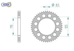 Zębatka AFAM tylna aluminiowa 60102-54 - 2848053388